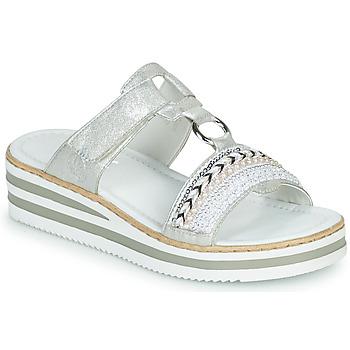 鞋子 女士 休闲凉拖/沙滩鞋 Rieker 瑞克尔 CLOZ 银灰色 / 白色
