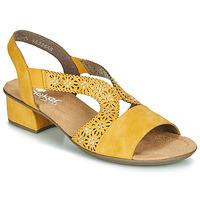 鞋子 女士 凉鞋 Rieker 瑞克尔 NOUCK 黄色