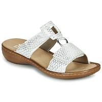 鞋子 女士 休闲凉拖/沙滩鞋 Rieker 瑞克尔 MOLLY 银灰色