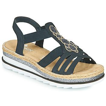 鞋子 女士 凉鞋 Rieker 瑞克尔 LOUANN 黑色