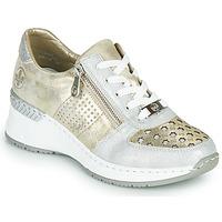 鞋子 女士 球鞋基本款 Rieker 瑞克尔 LEA 金色 / 银灰色