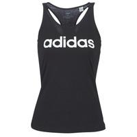 衣服 女士 无领短袖套衫/无袖T恤 adidas Performance 阿迪达斯运动训练 E LIN SLIM TK 黑色