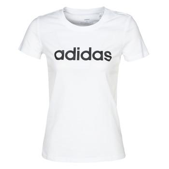 衣服 女士 短袖体恤 adidas Performance 阿迪达斯运动训练 E LIN SLIM T 白色
