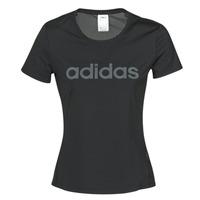 衣服 女士 短袖体恤 adidas Performance 阿迪达斯运动训练 D2M LO TEE 黑色