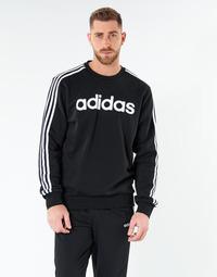 衣服 男士 卫衣 adidas Performance 阿迪达斯运动训练 E 3S CREW FL 黑色