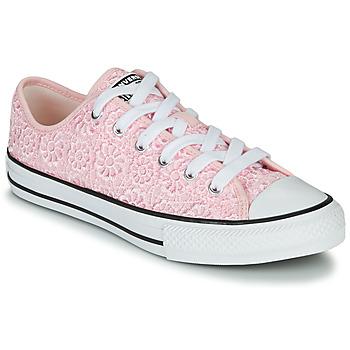 鞋子 儿童 球鞋基本款 Converse 匡威 CHUCK TAYLOR ALL STAR DAISY CROCHET 玫瑰色