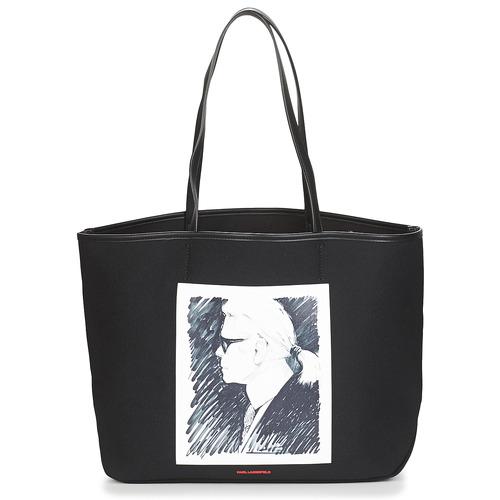 包 购物袋 KARL LAGERFELD KARL LEGEND CANVAS TOTE 黑色