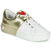 鞋子 女士 球鞋基本款 Love Moschino BI-COLOR SHOES 白色 / 金色