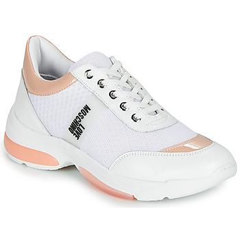 鞋子 女士 球鞋基本款 Love Moschino RUN LOVE 白色 / 玫瑰色