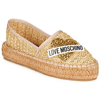 鞋子 女士 帆布便鞋 Love Moschino JA10393G0A 米色