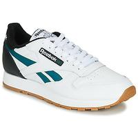 鞋子 男士 球鞋基本款 Reebok Classic CL LEATHER MU 白色 / 黑色