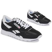 鞋子 球鞋基本款 Reebok Classic CL NYLON 黑色