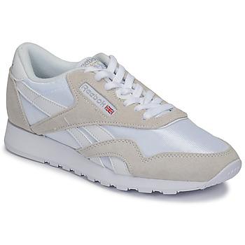 鞋子 球鞋基本款 Reebok Classic CL NYLON 白色 / 米色
