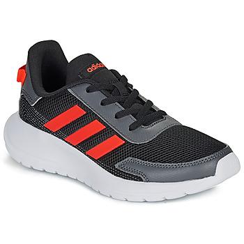 鞋子 男孩 球鞋基本款 adidas Performance 阿迪达斯运动训练 TENSAUR RUN K 黑色 / 红色