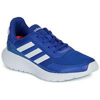 鞋子 男孩 球鞋基本款 adidas Performance 阿迪达斯运动训练 TENSAUR RUN K 蓝色 / 白色