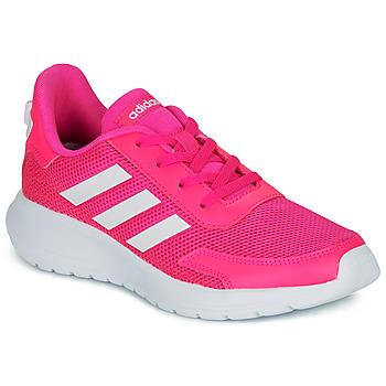 鞋子 女孩 球鞋基本款 adidas Performance 阿迪达斯运动训练 TENSAUR RUN K 玫瑰色 / 白色