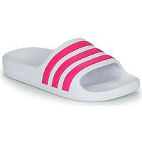 鞋子 女孩 拖鞋 adidas Performance 阿迪达斯运动训练 ADILETTE AQUA K 白色 / 玫瑰色