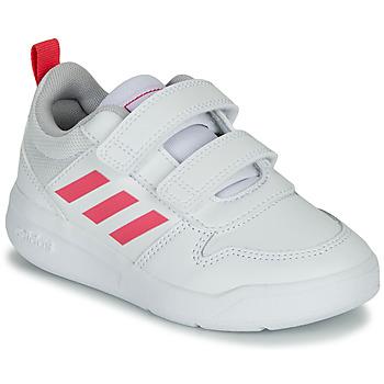 鞋子 女孩 球鞋基本款 adidas Performance 阿迪达斯运动训练 TENSAUR C 白色 / 玫瑰色