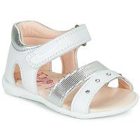 鞋子 女孩 凉鞋 Pablosky DINNA 白色 / 银灰色