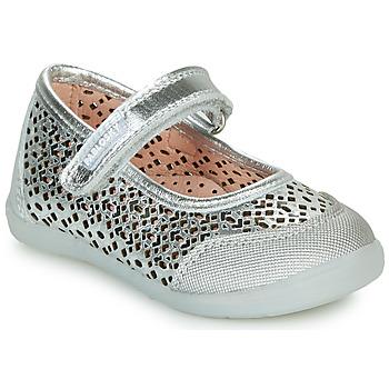 鞋子 女孩 平底鞋 Pablosky  银灰色