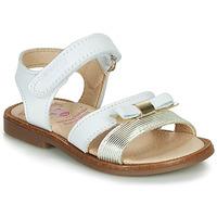 鞋子 女孩 凉鞋 Pablosky  白色 / 金色