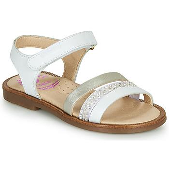 鞋子 女孩 凉鞋 Pablosky PINNA 白色 / Nacre