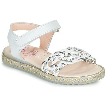 鞋子 女孩 凉鞋 Pablosky MINNA 白色 / 银灰色