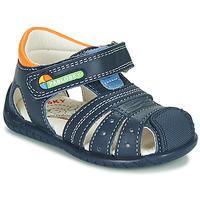 鞋子 男孩 凉鞋 Pablosky  海蓝色 / 橙色