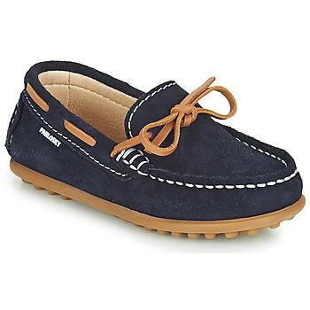 鞋子 男孩 皮便鞋 Pablosky  海蓝色 / 驼色