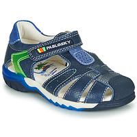 鞋子 男孩 凉鞋 Pablosky  海蓝色 / 绿色