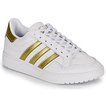 鞋子 女士 球鞋基本款 Adidas Originals 阿迪达斯三叶草 MODERN 80 EUR COURT W 白色 / 金色