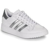 鞋子 女士 球鞋基本款 Adidas Originals 阿迪达斯三叶草 MODERN 80 EUR COURT W 白色 / 银色