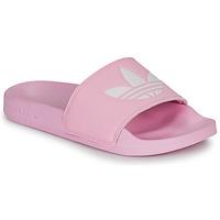 鞋子 女士 球鞋基本款 Adidas Originals 阿迪達斯三葉草 ADILETTE LITE W 玫瑰色