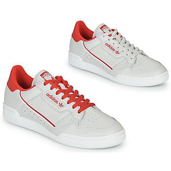 鞋子 球鞋基本款 Adidas Originals 阿迪达斯三叶草 CONTINENTAL 80 米色 / 红色