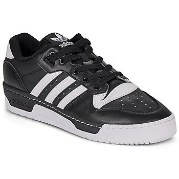 鞋子 球鞋基本款 Adidas Originals 阿迪达斯三叶草 RIVALRY LOW 黑色 / 白色