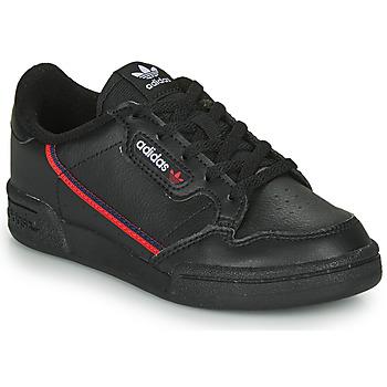 鞋子 兒童 球鞋基本款 Adidas Originals 阿迪達斯三葉草 CONTINENTAL 80 C 黑色