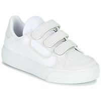 鞋子 兒童 球鞋基本款 Adidas Originals 阿迪達斯三葉草 CONTINENTAL VULC CF C 白色 / 米色