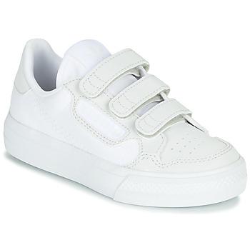 鞋子 儿童 球鞋基本款 Adidas Originals 阿迪达斯三叶草 CONTINENTAL VULC CF C 白色 / 米色