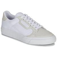 鞋子 儿童 球鞋基本款 Adidas Originals 阿迪达斯三叶草 CONTINENTAL VULC J 白色 / 米色