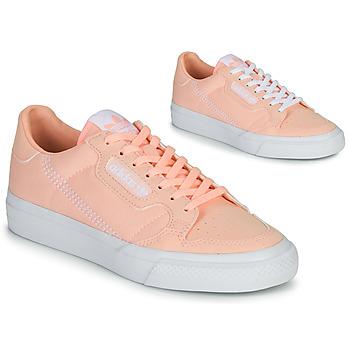 鞋子 女孩 球鞋基本款 Adidas Originals 阿迪达斯三叶草 CONTINENTAL VULC J 玫瑰色