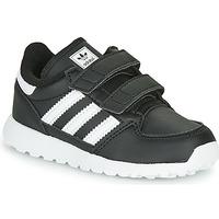 鞋子 儿童 球鞋基本款 Adidas Originals 阿迪达斯三叶草 FOREST GROVE CF I 黑色