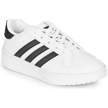 鞋子 儿童 球鞋基本款 Adidas Originals 阿迪达斯三叶草 Novice C 白色 / 黑色