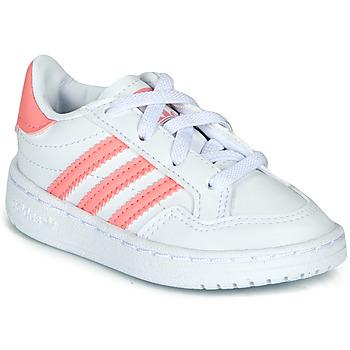 鞋子 女孩 球鞋基本款 Adidas Originals 阿迪达斯三叶草 NOVICE EL I 白色 / 玫瑰色