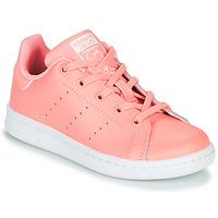 鞋子 女孩 球鞋基本款 Adidas Originals 阿迪达斯三叶草 STAN SMITH C 玫瑰色