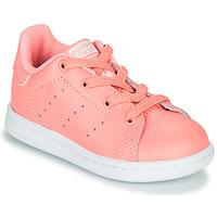 鞋子 女孩 球鞋基本款 Adidas Originals 阿迪达斯三叶草 STAN SMITH EL I 玫瑰色