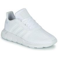 鞋子 男孩 球鞋基本款 Adidas Originals 阿迪达斯三叶草 SWIFT RUN C 白色