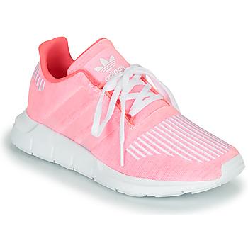 鞋子 女孩 球鞋基本款 Adidas Originals 阿迪达斯三叶草 SWIFT RUN J 玫瑰色