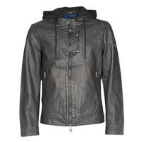 衣服 男士 皮夹克/ 人造皮革夹克 Guess VINTAGE ECO-LEATHER JKT 黑色