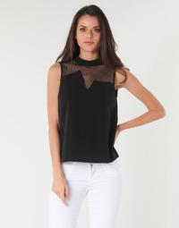 衣服 女士 女士上衣/罩衫 Guess SL MAYA TOP 黑色