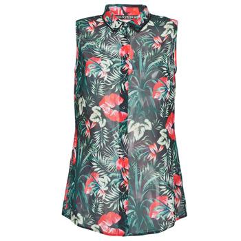 衣服 女士 女士上衣/罩衫 Guess SL CLOUIS SHIRT 黑色 / 绿色 / 红色
